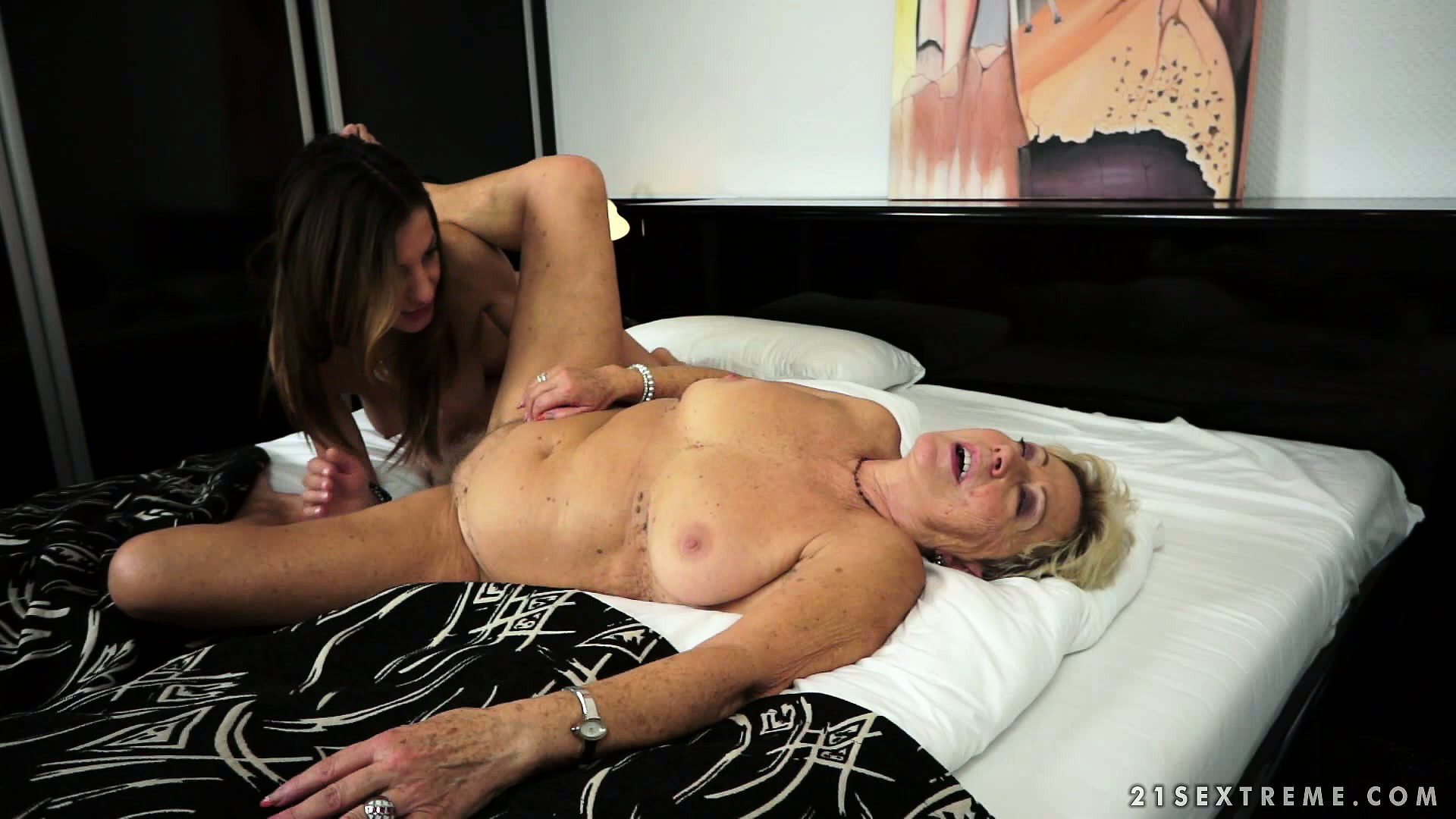 Porno Video of Plumper Blonde Granny Introduces Her Granddaughter To Her Fat, Wet Snatch