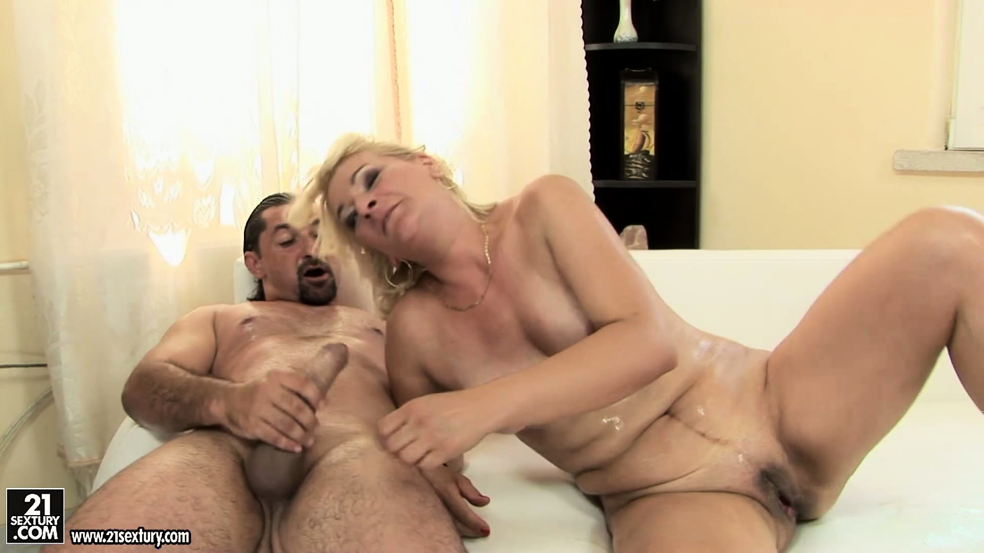 Porn Tube of Blonde Cougar With Tiny Tits Bangs Her Man Like A True Sex Freak