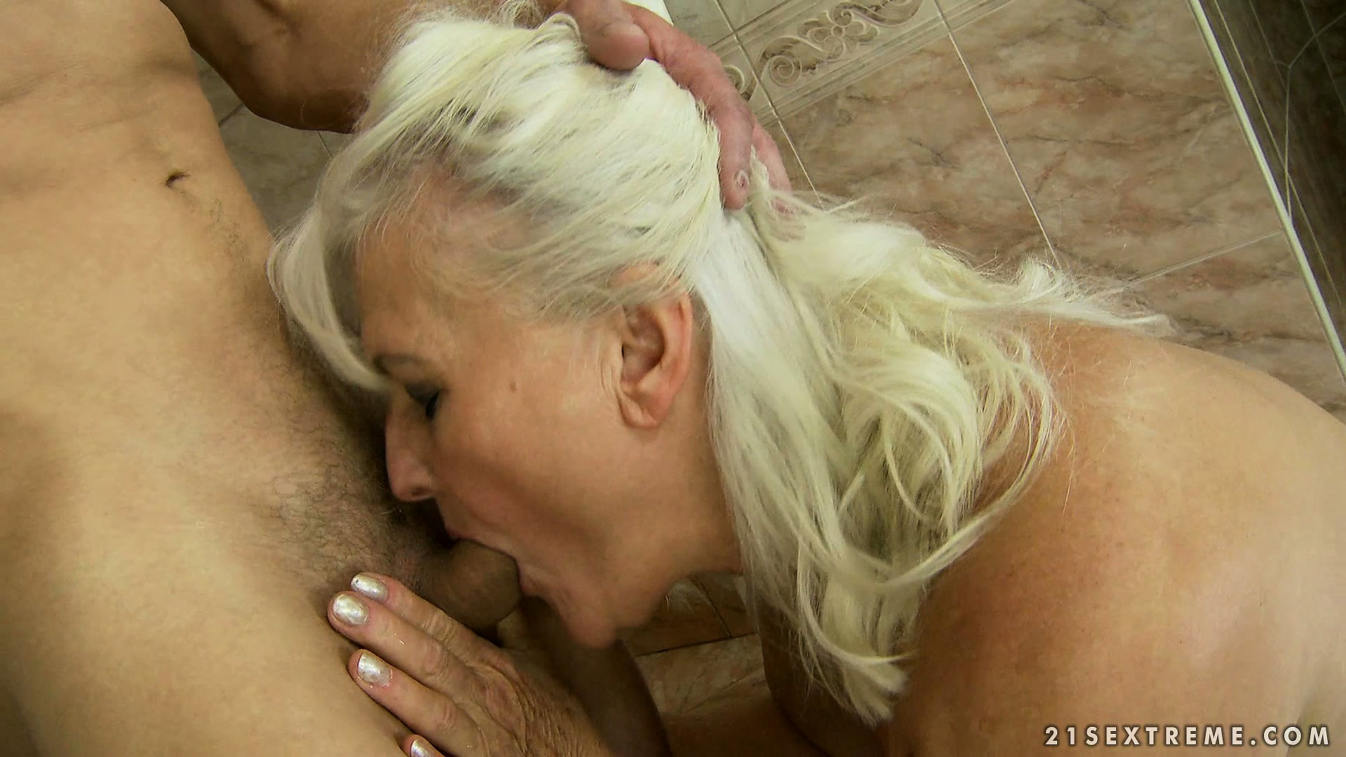 Porno Video of Slutty Granny With Gray Hair Starts To Remember What Is Good Blowjob