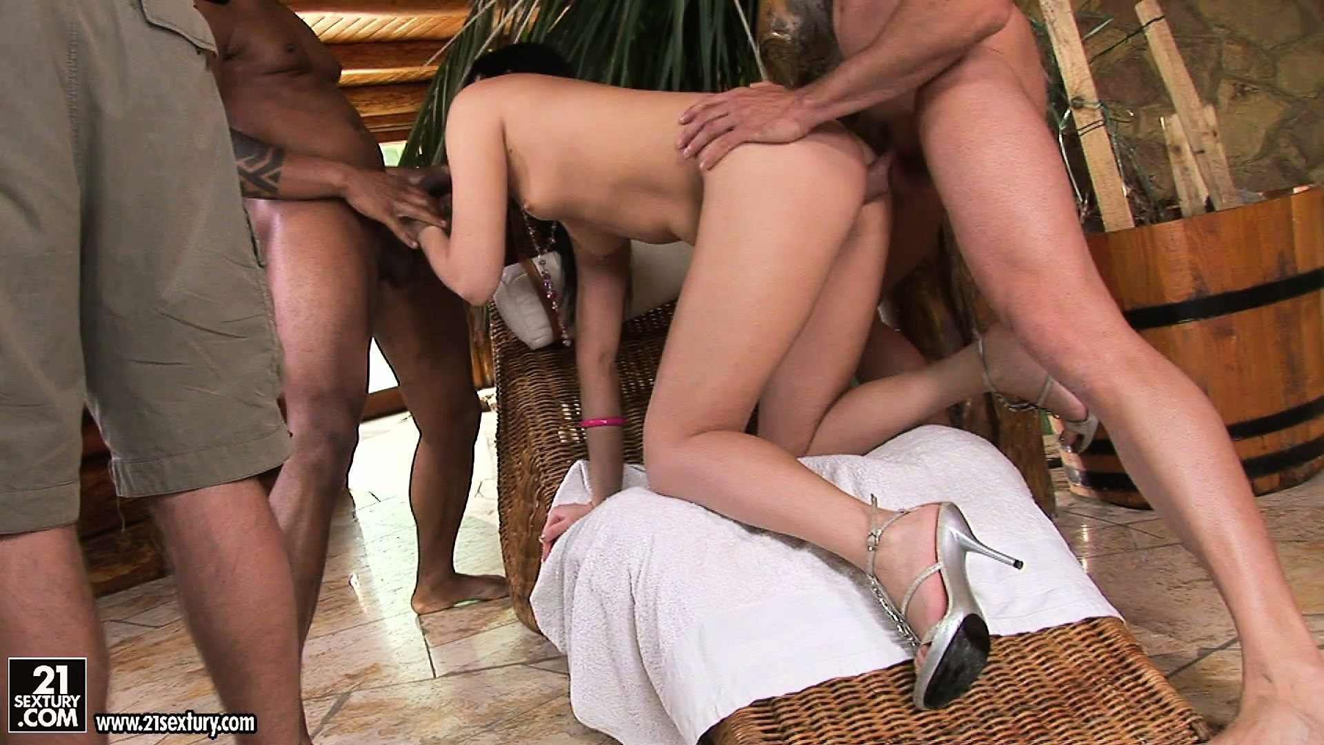 Porno Video of Join Sweet Brunette Nilla Backstage Where She Has A Hot Interracial Threesome