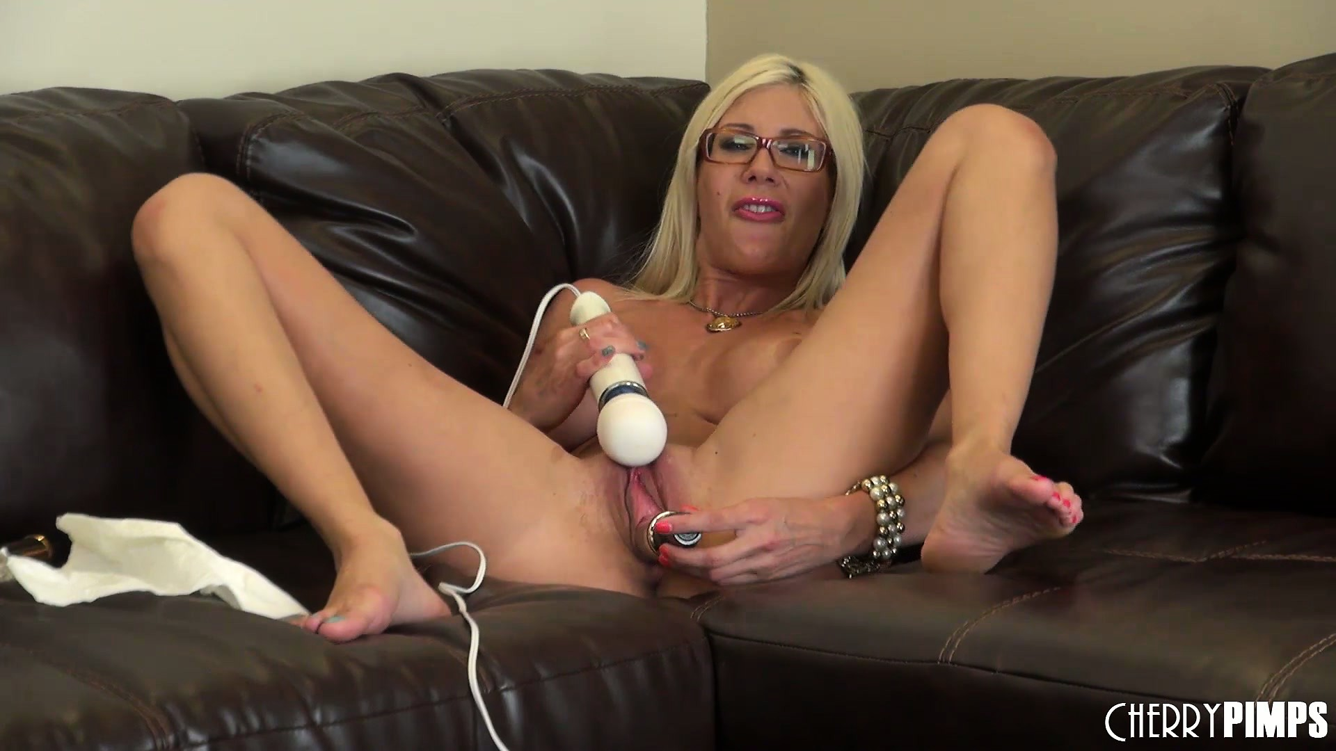Porn Tube of The Blonde Bombshell Has A Passion For Sex Toys And Isn't Afraid To Show It