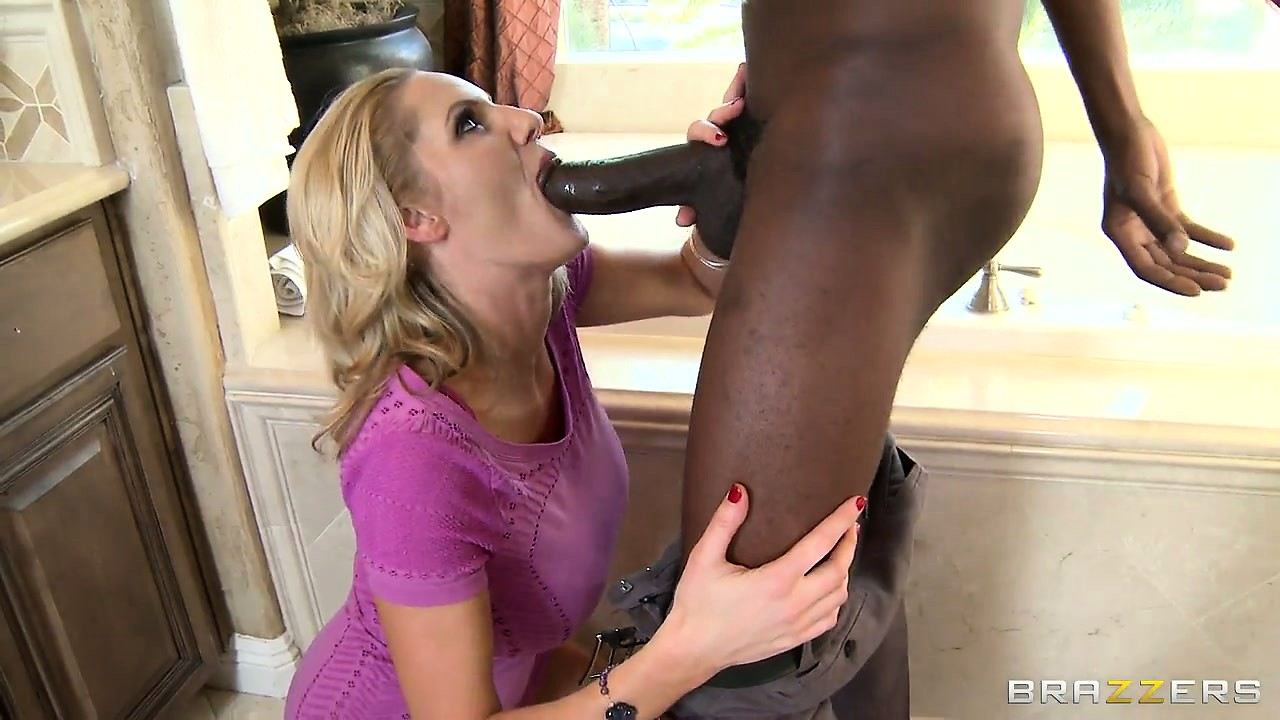 Porno Video of Gorgeous Blonde Hides Beneath Her Purple Dress A Pussy Craving For Black Cock
