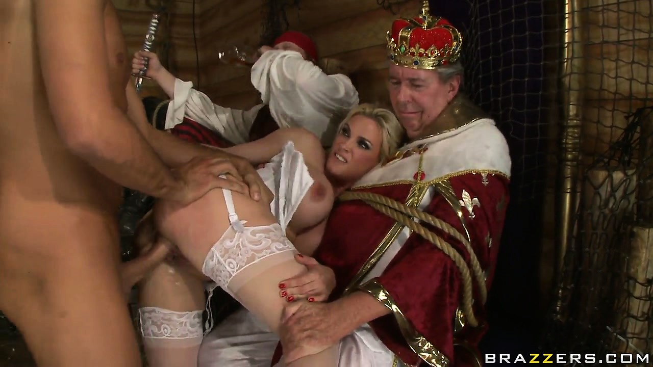 Sex Movie of Pirates Humiliate An Old Man By Banging His Bitch In Front Of Him