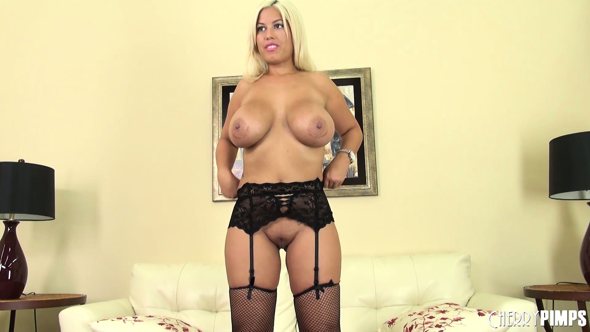 Porno Video of Bridgette B Has A Really Nice Audition Where She Presents Her Richly-endowed Body
