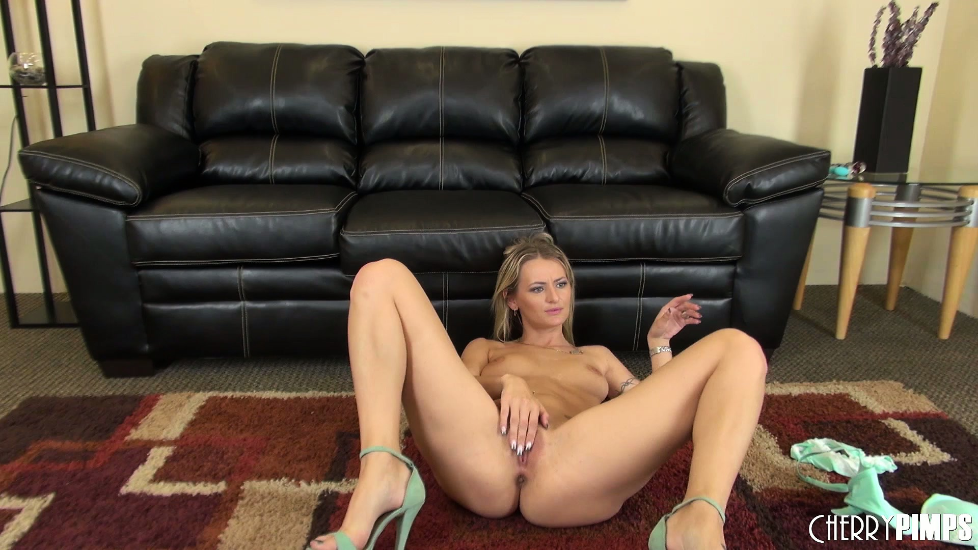 Porn Tube of Natasha Starr Slips Out Of Her Bra And Panties And Rubs Her Nub