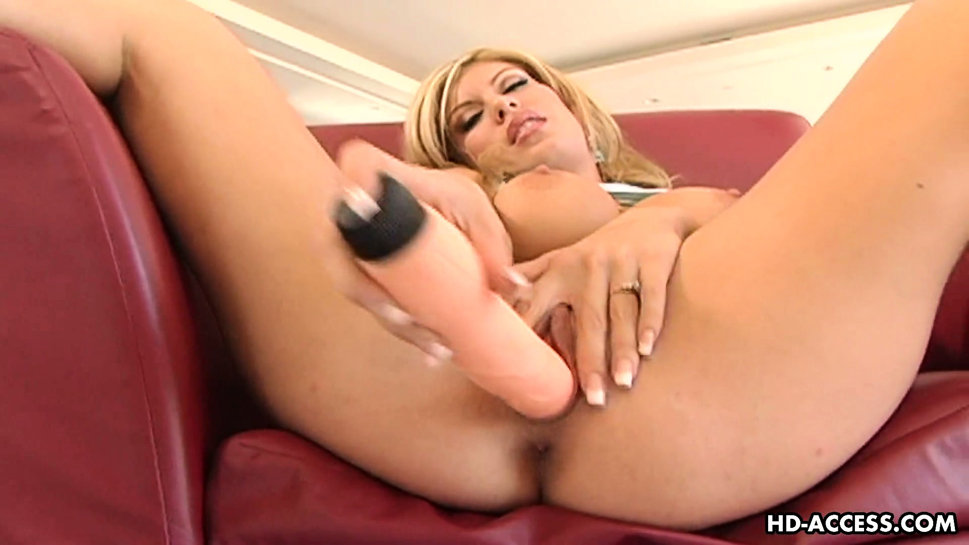 Porn Tube of Busty Blonde Mackenzie Mack Rubs Her Clit And Drills Her Snatch With A Big Sex Toy
