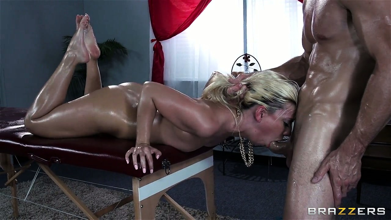 Porno Video of This Oily Babe Gets Fucked Rough On The Edge Of A Massage Table