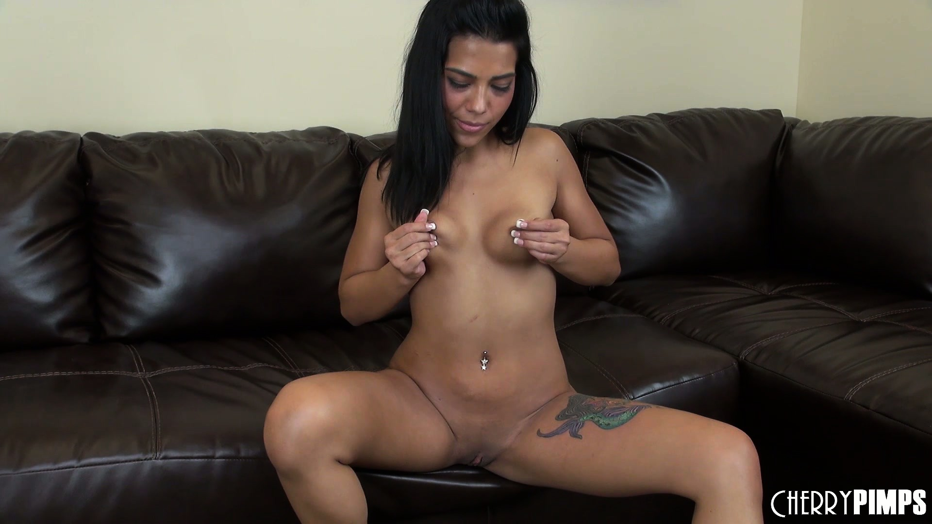 Porno Video of Ember James Grabs Her Sweaty Tits And Squeezes The Nipples Between Her Fingers