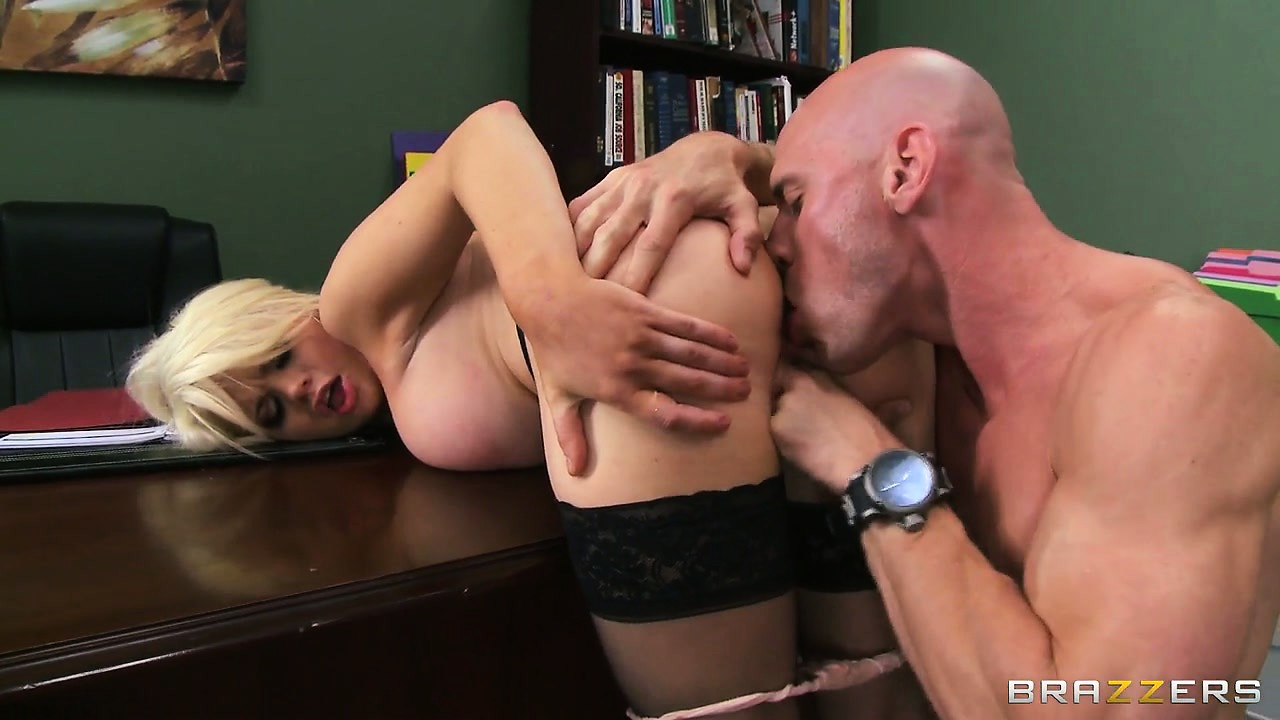 Porn Tube of Busty Blonde Hottie Boss Titty Fucks And Gets Licked And Fingered