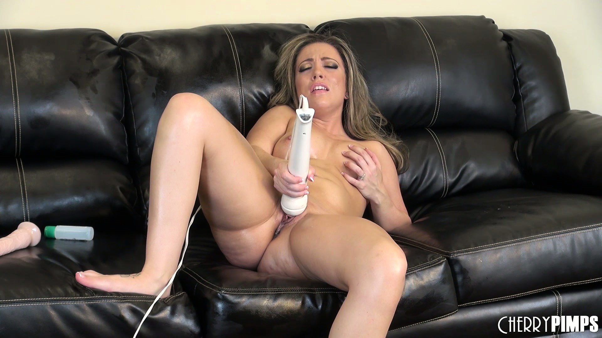 Porn Tube of Carmen's Moans Of Delight Fill The Room As A Vibrator Works Its Wonders On Her Clit