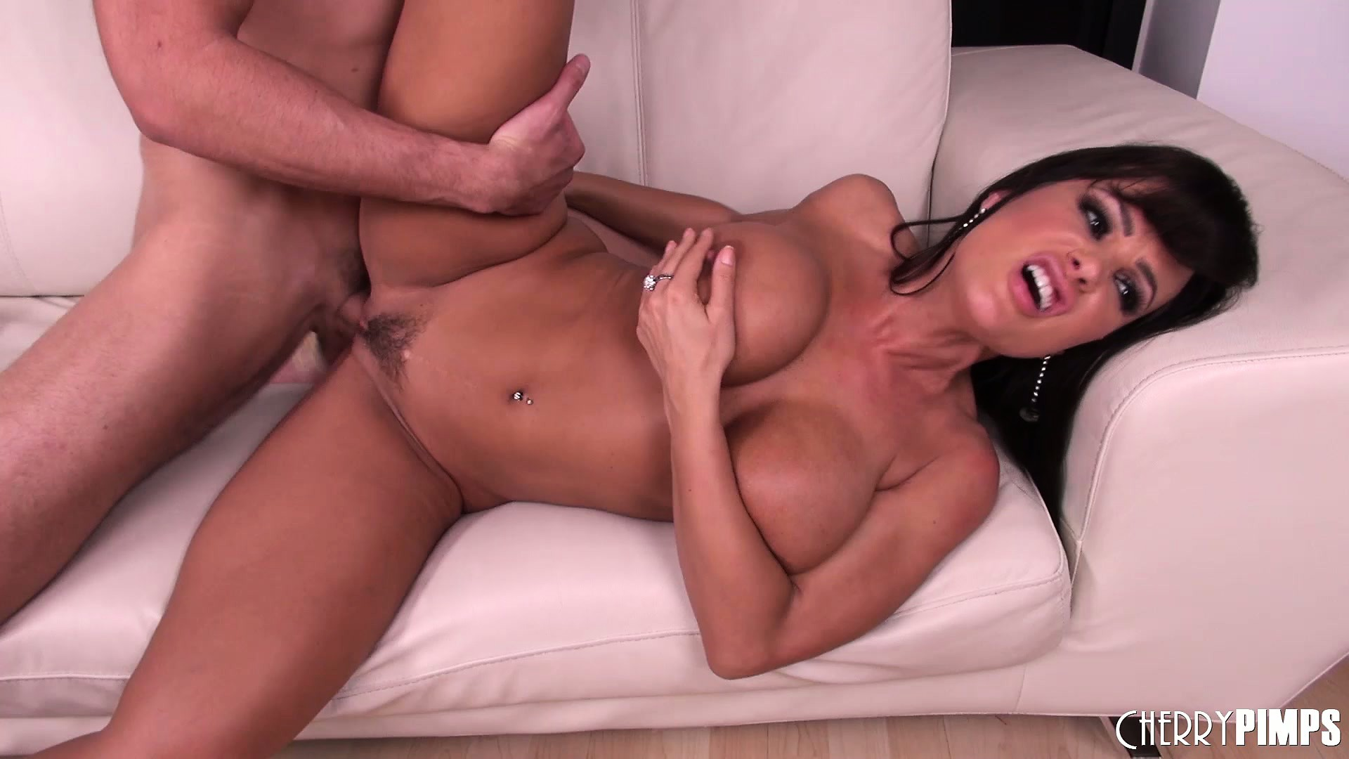 Porn Tube of Lusty Lady Lisa Anne Loves Licking His Love Tool And Catching His Cum With Her Huge Melons