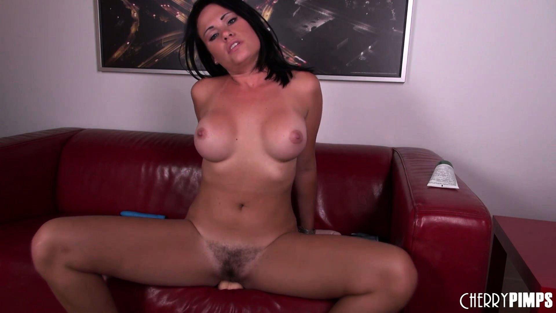 Porn Tube of Ashli Ames Using Her Huge Fake Cock In Her Tiny Little Pussy