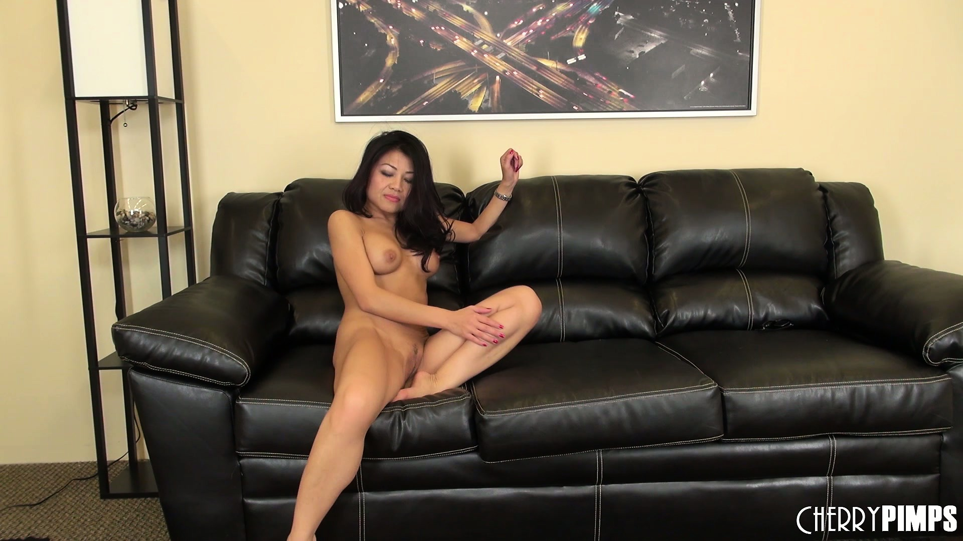 Porno Video of It's Time For Sweet Oriental Lady, Jackie Lin To Get Naked And Masturbate