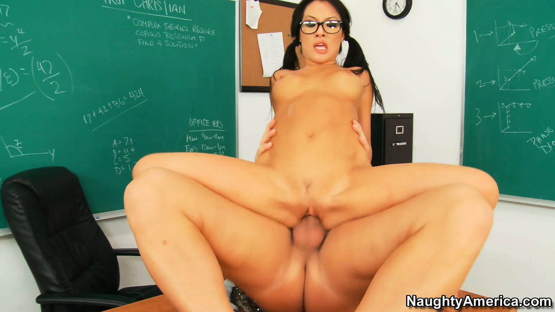 Porn Tube of Asa Akira Is Sure To Get An A+ In Sex Education After Fucking The Teacher