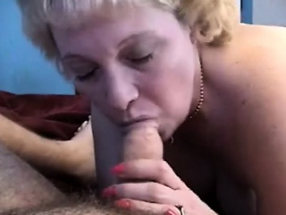 short haired blonde mom with huge tits worships a fat cock pov style