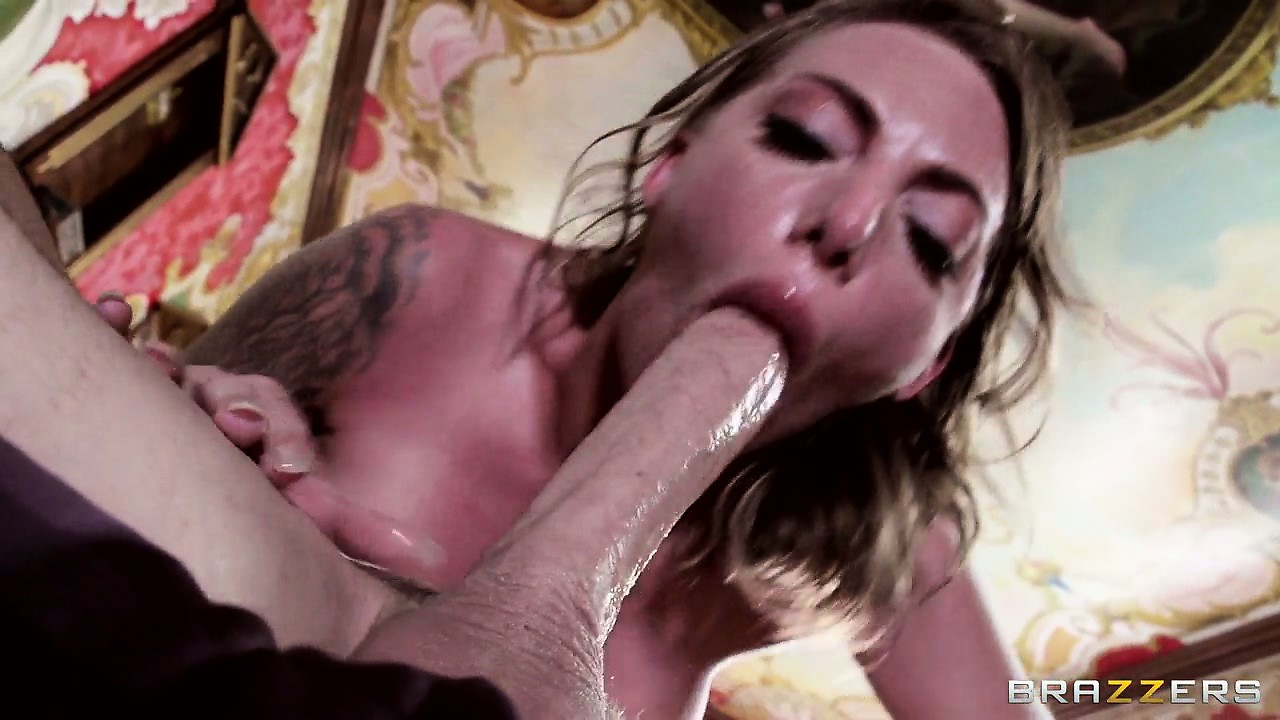 Porno Video of Giving This Inked Slut Some Licking To Slide Huge Cock Into Her Pussy Easier