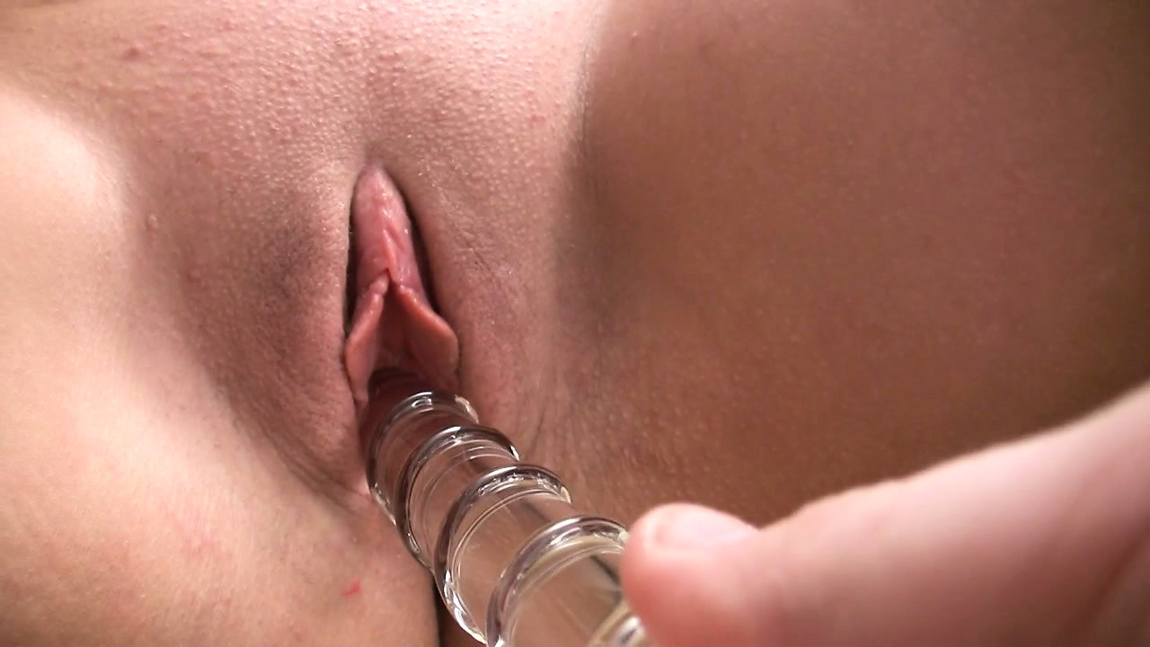Porno Video of Crystal Clay Vibes Her Clit While A Guy Fucked Her With A Glass Dildo