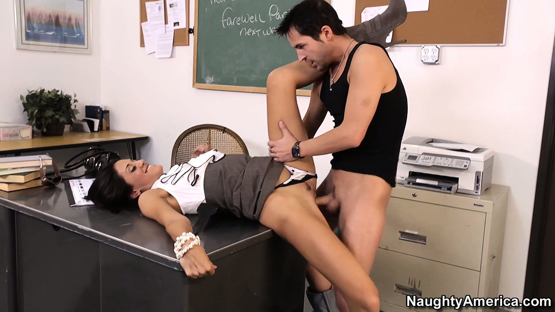 Porn Tube of Sexy Brunette Teacher Lyla Storm Gives Her Student A Lesson He Won't Forget So Soon