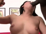 Lucy Bell reaches the peak of her pleasure white getting double banged