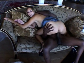 vanilla blows his huge black dick and gets her hole hammered