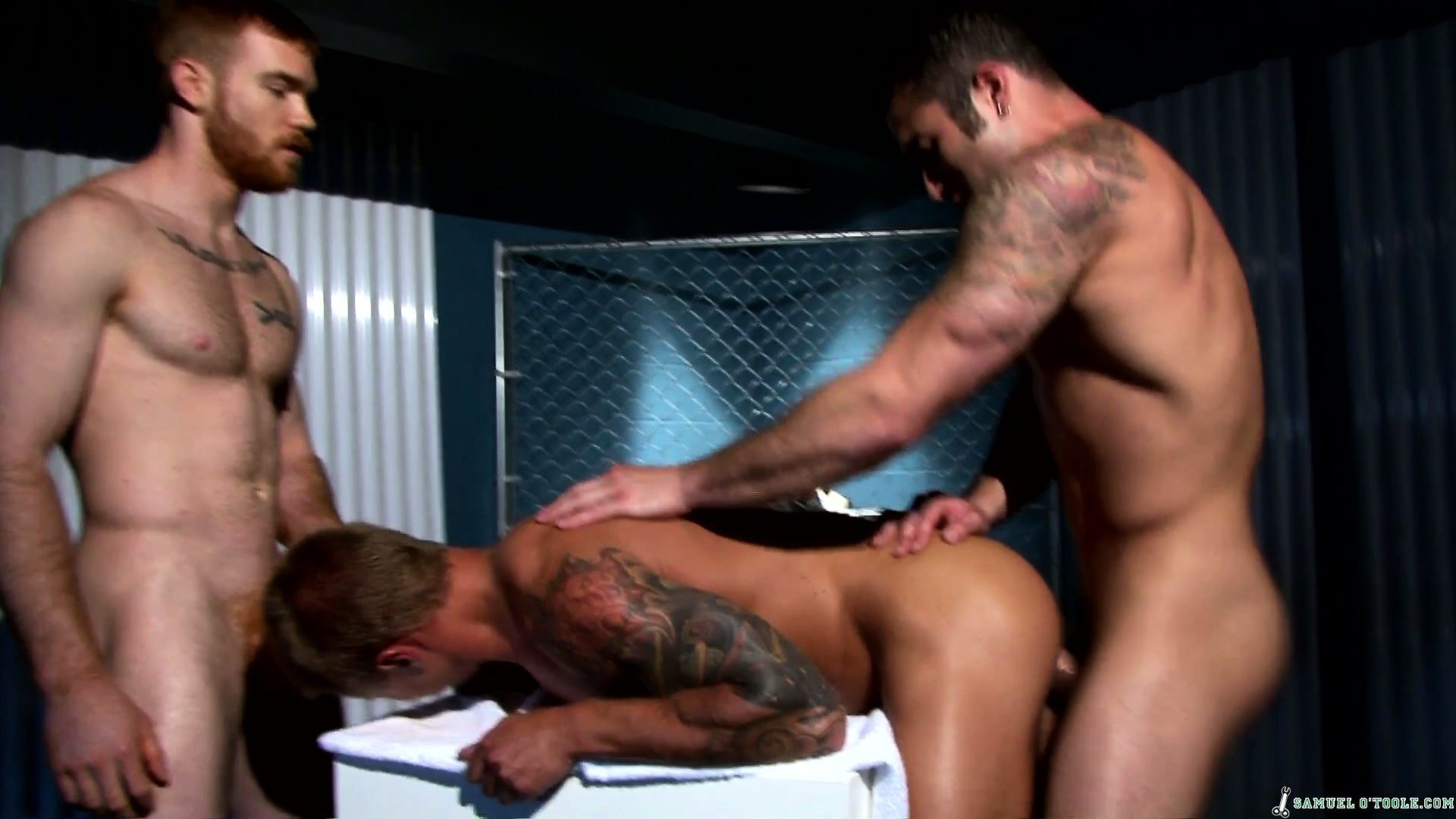 Porn Tube of He Gets A Cock Up His Ass, The Other Dude Jerks, And He Gets Cum On His Ass