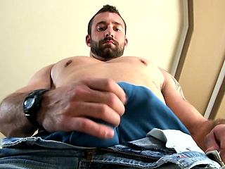 vinny castillo gives some sexy looks as he plays with his package