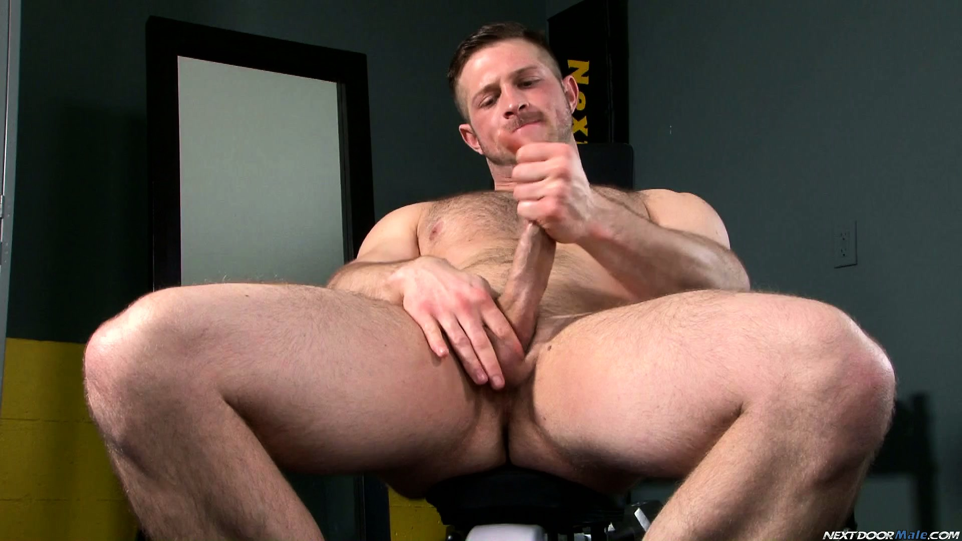 Porn Tube of Paul Wagner Takes Off His Shorts Strokes His Cock And Fondles His Ass