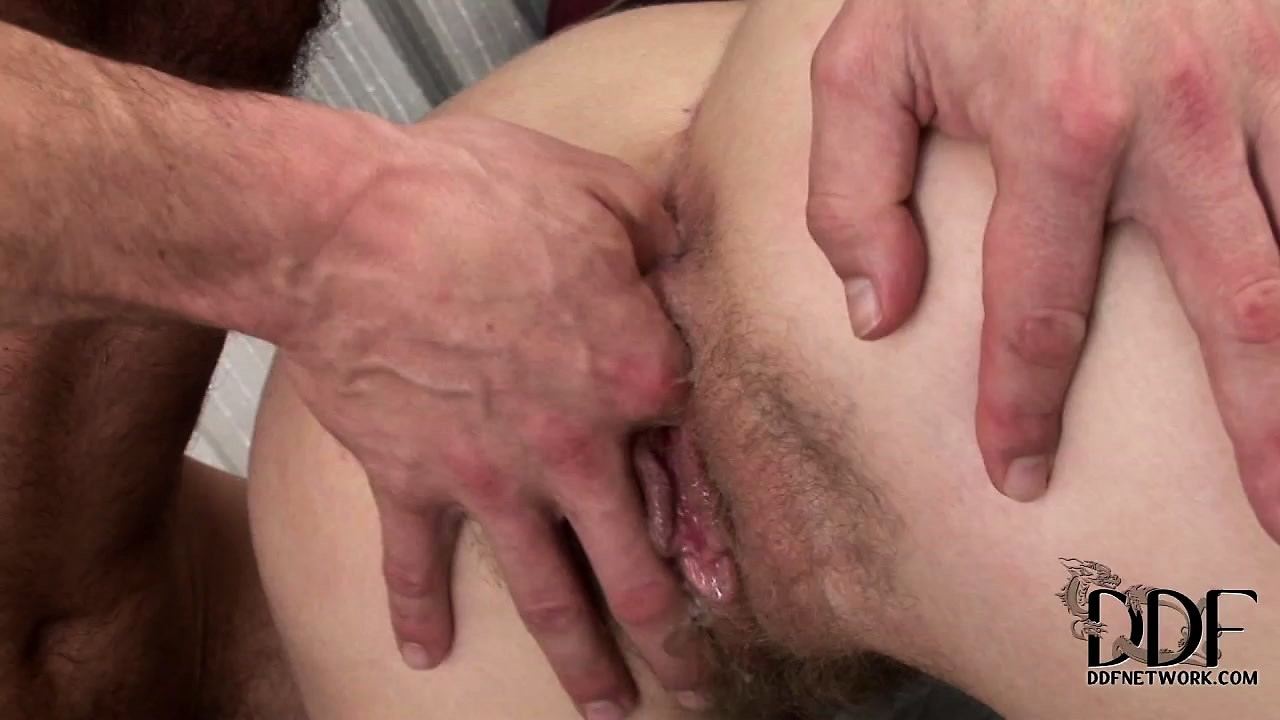 Porno Video of She Screams As He Fucks Her Tight Ass And Fingers Her Hairy Pussy