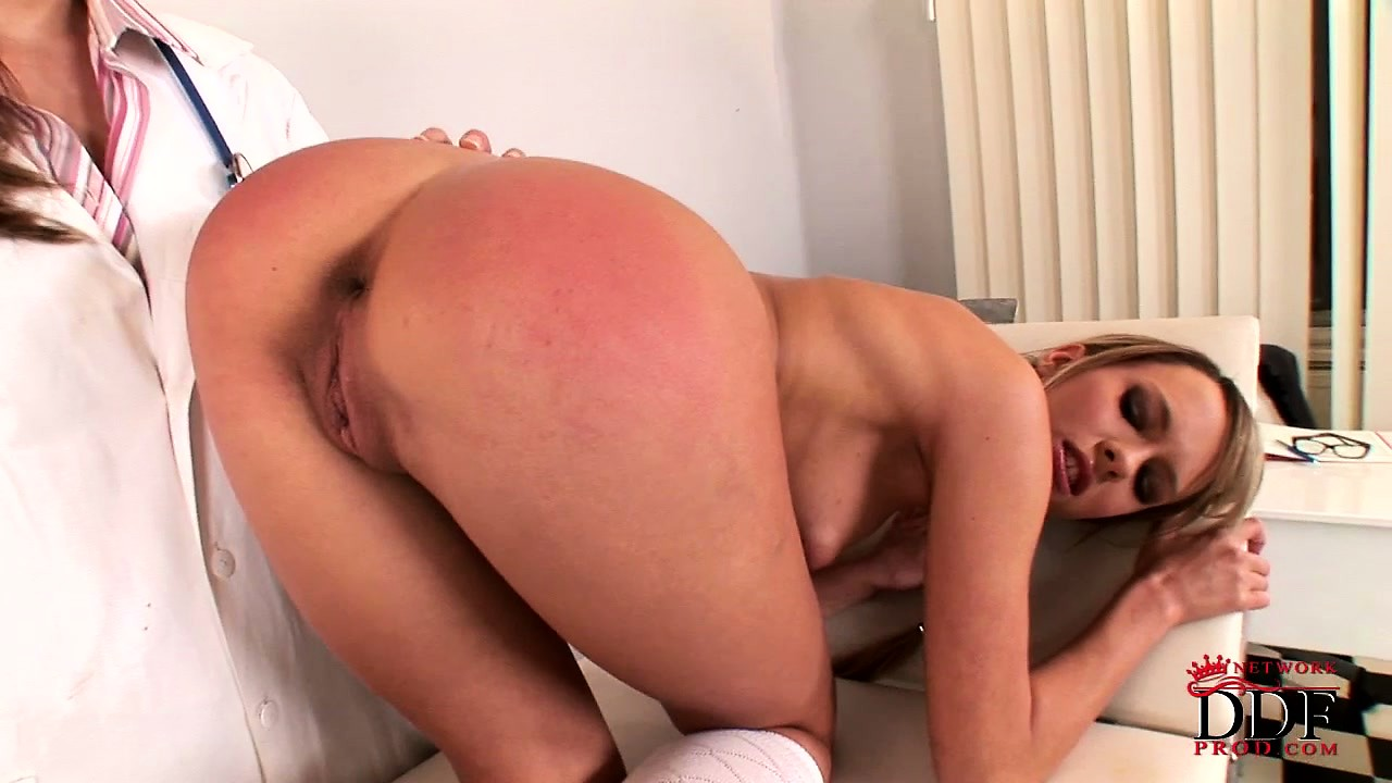 Porn Tube of Doctor Gives A Rough Spanking To A Lovely Blonde Teen's Great Ass
