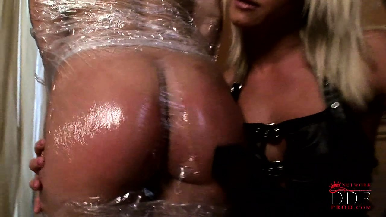 Porno Video of Slave Bound In Saran Wrap Gets Paddled And Teased By Her Mistress