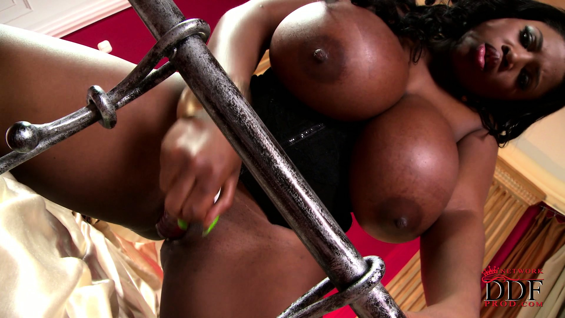 Porno Video of Juicy As All Fuck Ebony Bimbo Plays With Her Giant Ass Bazongas