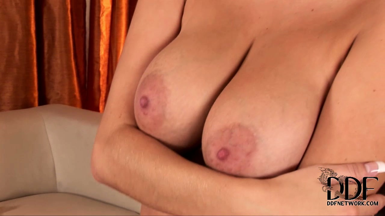 Porno Video of Stripping Her See-through Shirt, The Cute Blonde Exposes Her Wonderful Big Tits