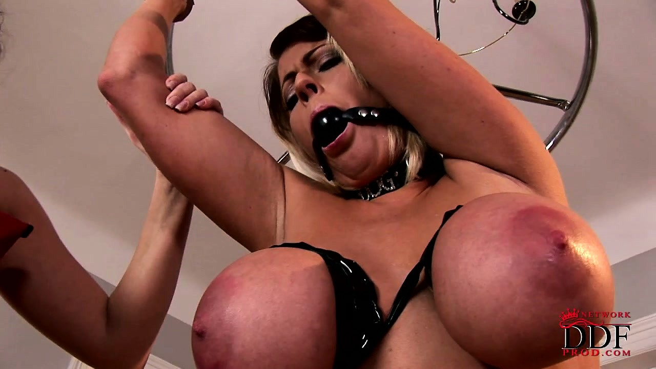 Porno Video of Busty Blonde's Big Nips Are Trapped Like Naughty Lesbian Mice