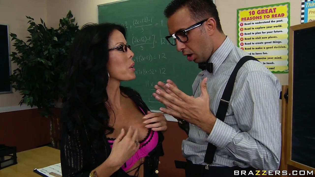 Porno Video of Instead Of Punishing Her Nasty Pupil, Teacher Undresses And Shows Her Boobs