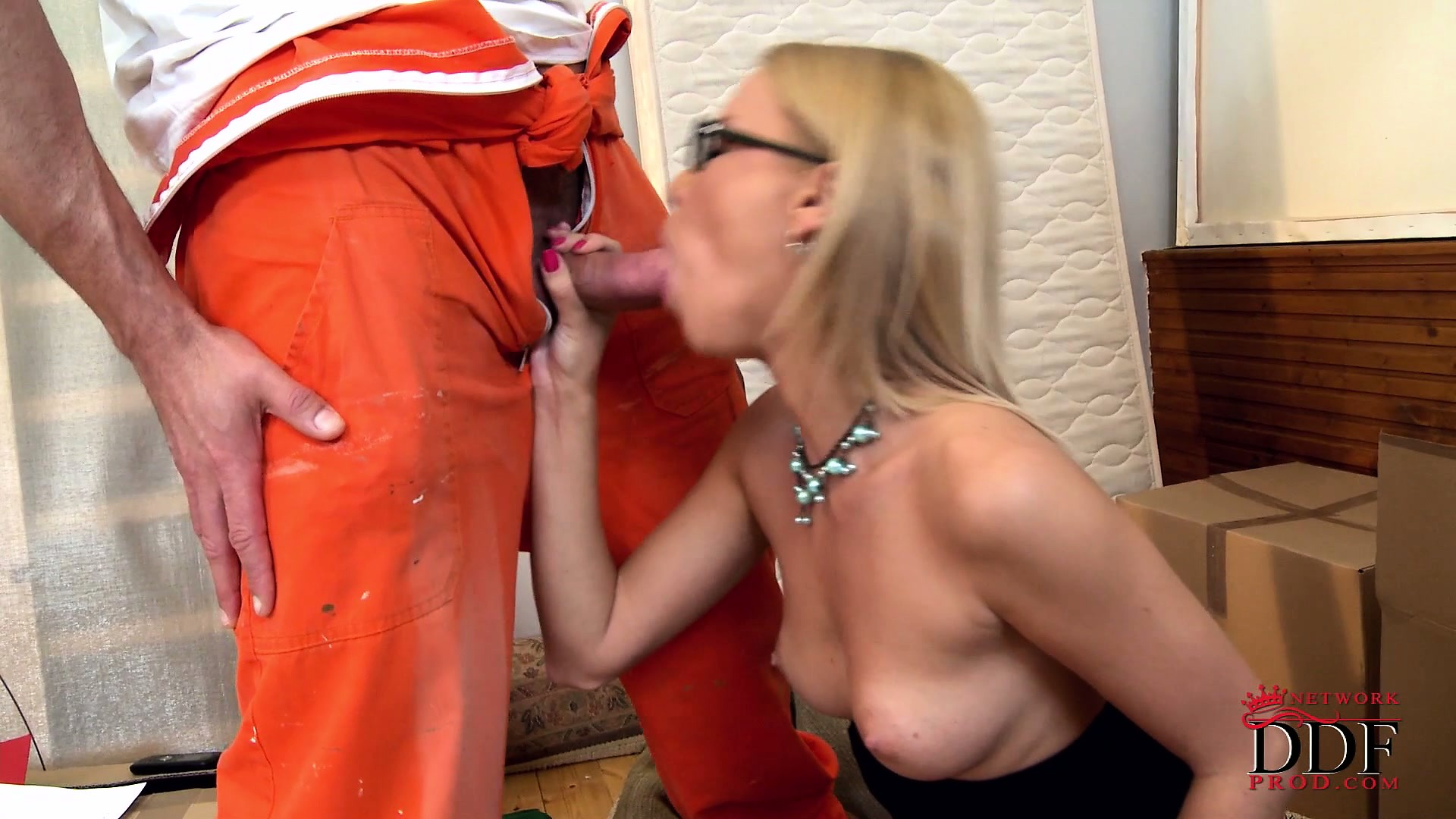 Porno Video of Blonde Slut With Glasses Gets A Big Load Shot Down Her Throat