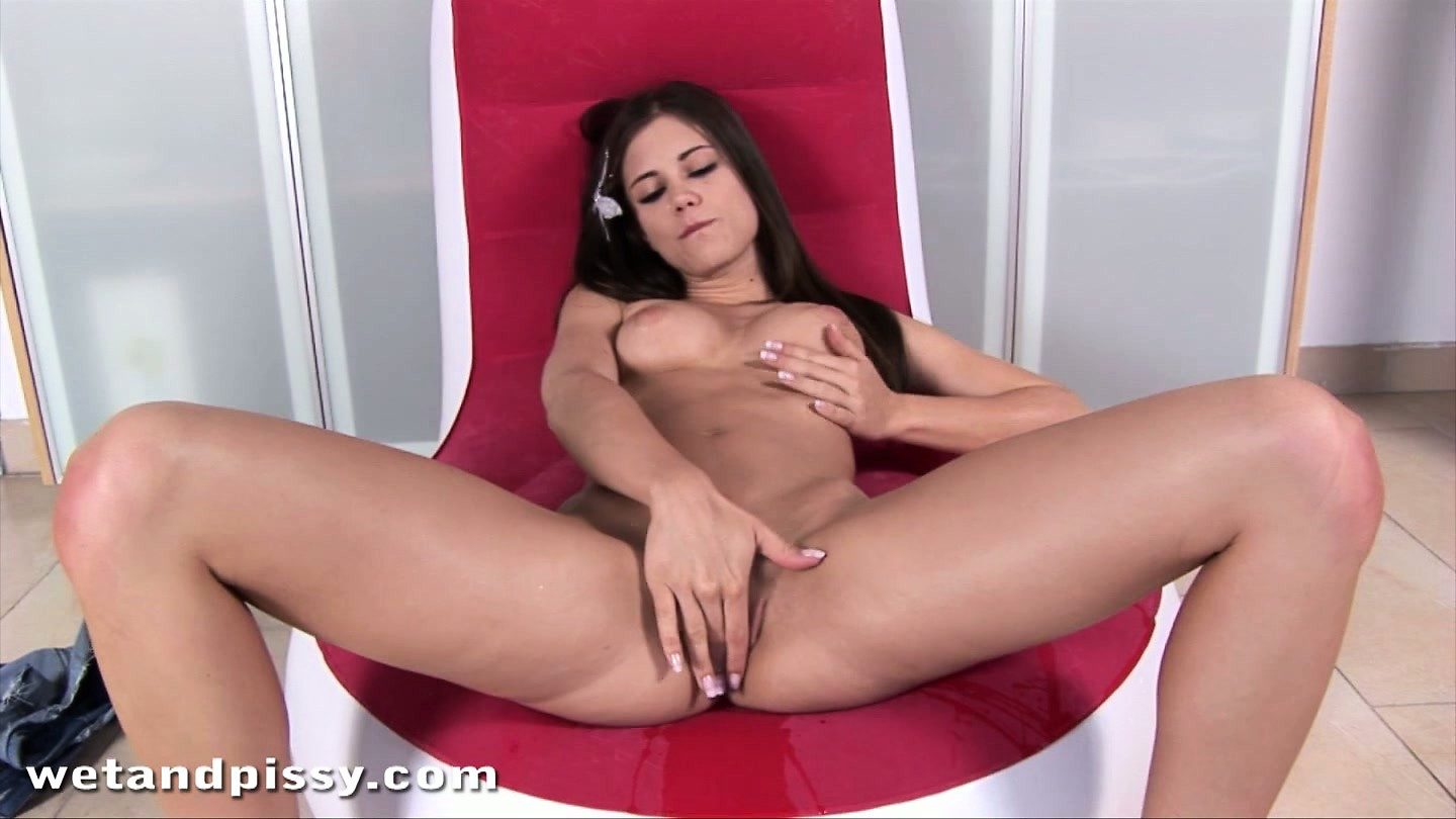 Porno Video of Brunette Caprice Plays With Her Tits And Starts Fingering Wet Slit