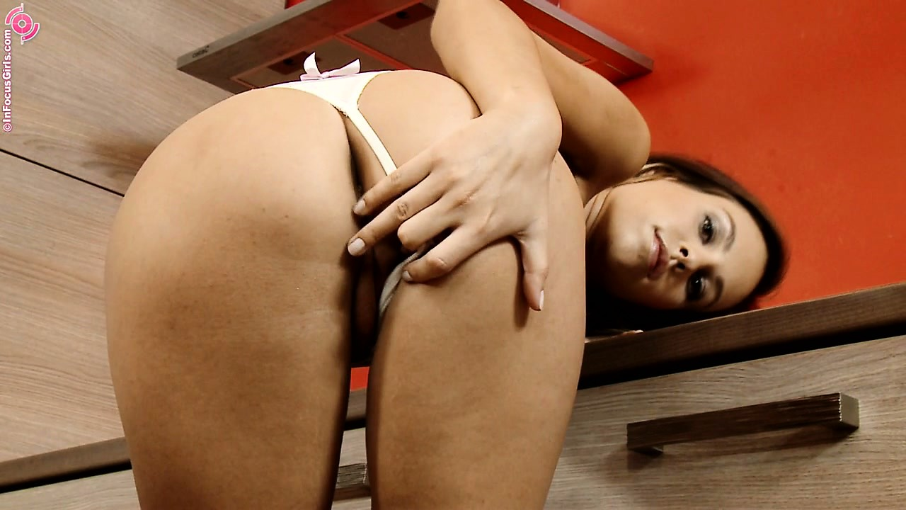 Porno Video of Hot Brunette Tests Out Her New Kitchen Counter With Some Pussy Play