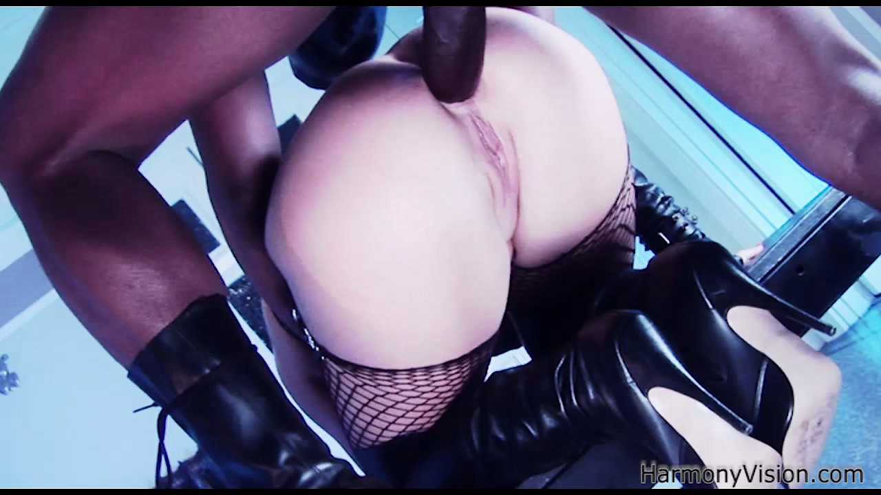 Porn Tube of Busty Bitch In Bondage Gear Gets Her Ass Boned By A Big Black Cock