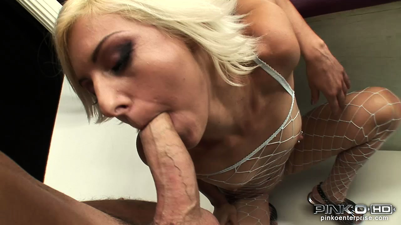 Porno Video of In A Sexy Fishnet Bodysuit, A Slender Blonde Milf Drills Her Cunt With A Big Dildo