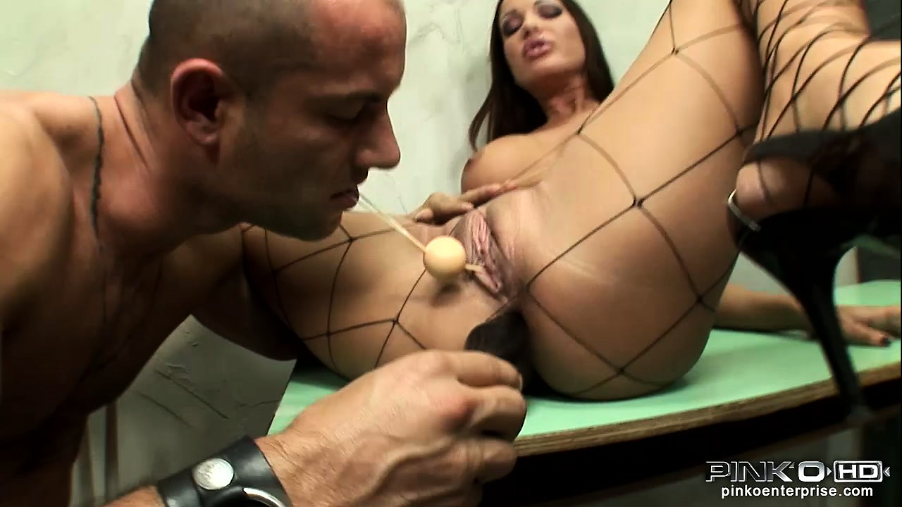 Porn Tube of In The Jail Cell, A Busty Brunette Has A Guy Drilling Her Holes With Big Sex Toys