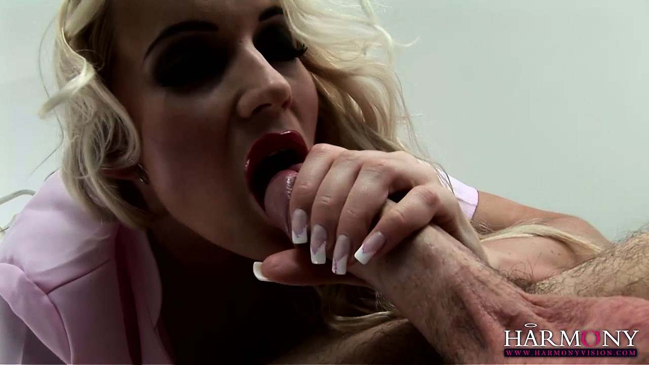 Porn Tube of Stacked Blonde Nurse With A Heavenly Butt Sticks A Huge Cock In Her Hungry Mouth