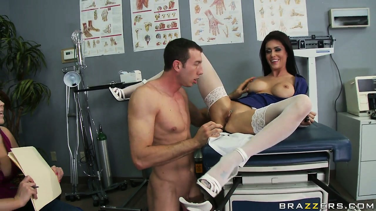 Porn Tube of Slutty Dr. Jaymes Has A Problem Pussy And Needs Assistance With His Medical Tool