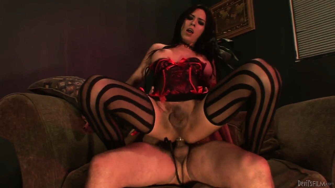 Porno Video of Nasty Tranny Slut In Sexy Black Stockings Takes Cock In Her Tight Ass