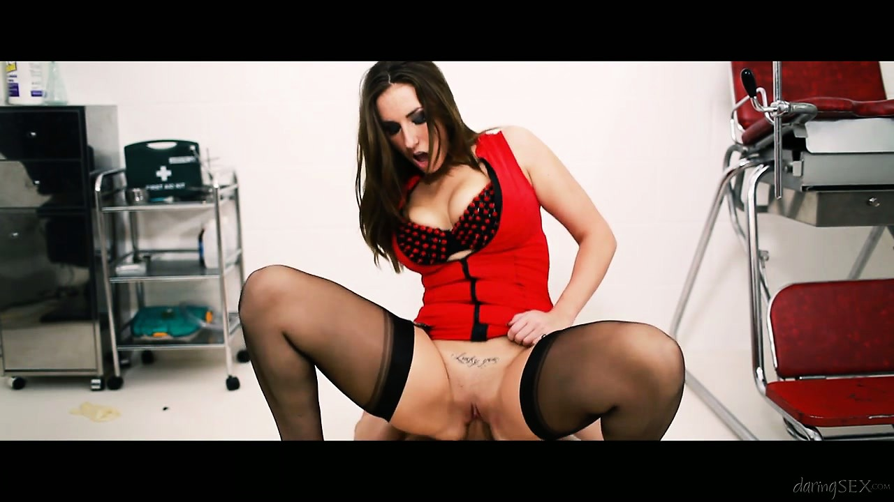Porn Tube of Slutty Brunette Spreads Her Legs Wide And Gets His Doctor Tool Inside