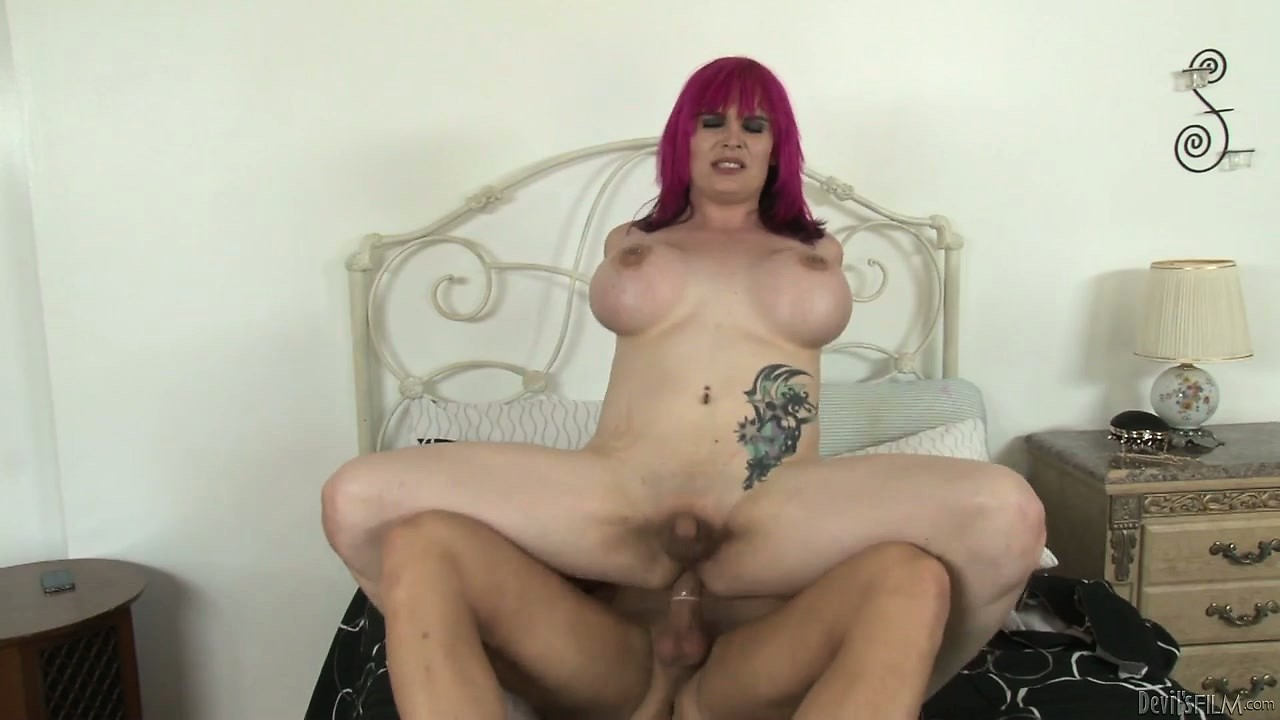 Porn Tube of Sweet Chubby Tranny Babe With Big Tits Fucked Hard By A Thick Dick