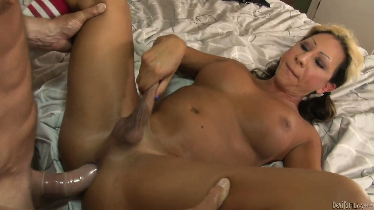 Porno Video of Horny Tranny Gets Her Asshole Fucked While She Tugs On Her Dick