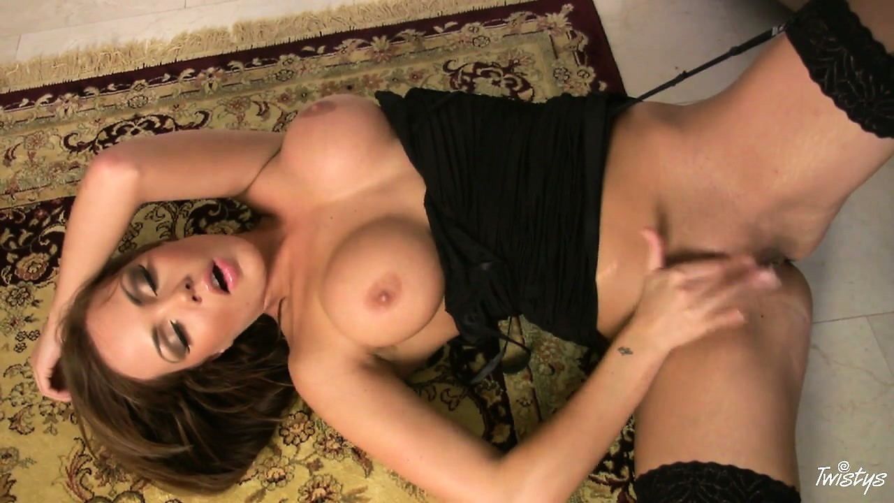 Porn Tube of Black Stockings, Top, High Heels And Totally Matchless Sex Appeal