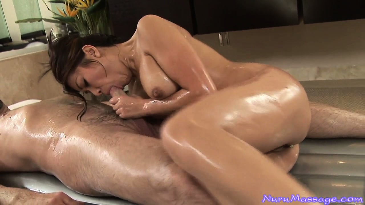 Porn Tube of Now She Oils Him Up And Grabs His Stiffy To Stuff In Her Mouth