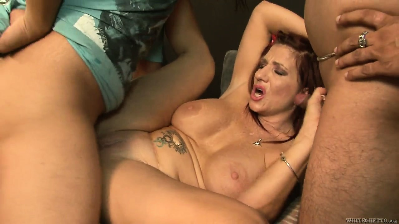 Porn Tube of Busty Redheaded Mom Gets Gangbanged By A Bunch Of Horny Young Guys
