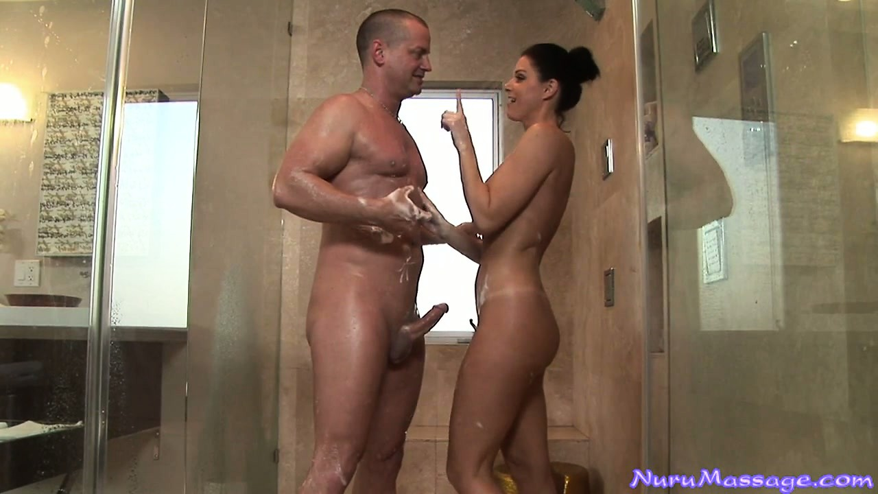 Porn Tube of Marvelous Brunette Provides The Troubled Neighbor A Great Massage